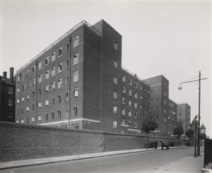 Photo:Rear elevation from Kenworthy Road (formerly Tynte Street), November 1937 (catalogue reference: SC01605-B5912)
