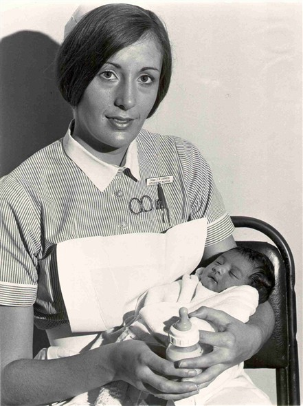 Photo:Miss JR James, student nurse, 1970 (catalogue reference: SBHF/PG/13)