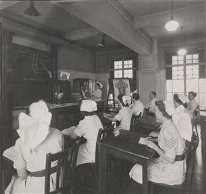 Photo:Lecture room in nurses' home, Jan 1946 (Ref: F2956)