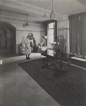 Photo:View of the nurses' home hallway, Jan 1946 (Catalogue reference: SC01601-F2955)