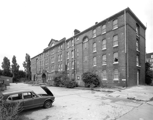Photo:Old Nurses' Home from north-east, July 1993 (catalogue reference: BB93_26519)